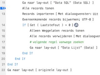 Script-code voor export naar SQL-server