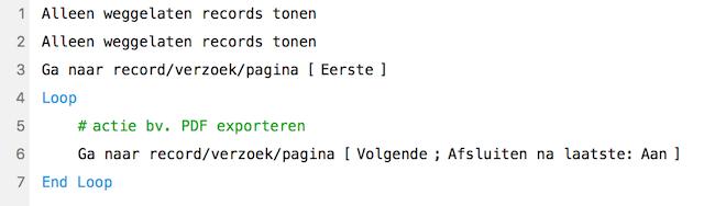 Voorbeeldscript met loop